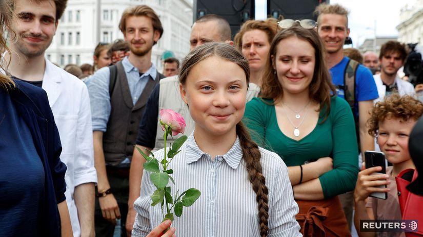 Greta Thunbergová / klíma / klimatické zmeny /