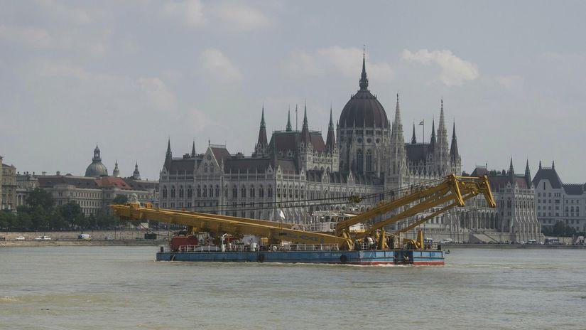 žeriav Clark Ádám maďarsko budapešť loď...