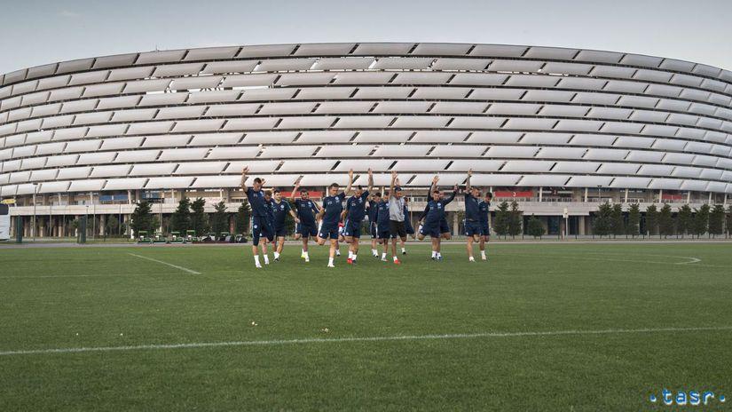 Azerbajdžan SR Baku futbal kval. ME tréning