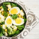 brokolica, vajíčko, šalát
