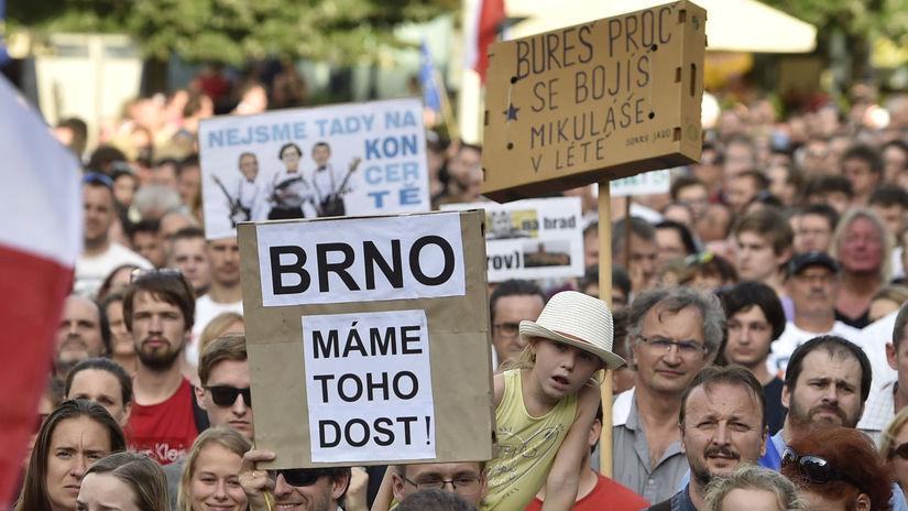 Česko / protesty /