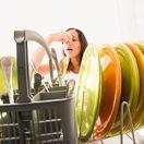 umývačka, riad, zápach, kuchyňa