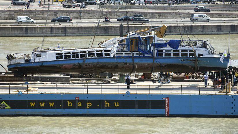Vrak výletná loď Hableány maďarsko budapešť dunaj
