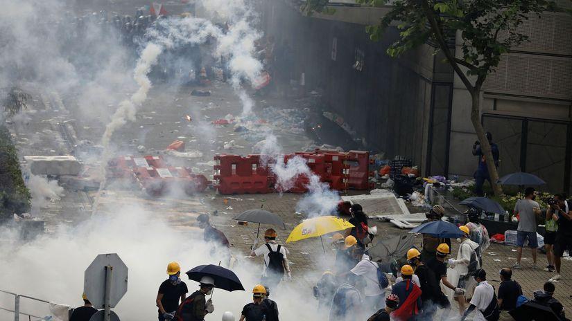 Hongkong / demonštrácie /