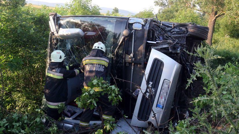Maďarsko / SR / autobus / nehoda / zranení /