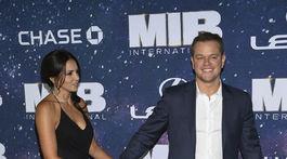Matt Damon a jeho manželka Luciana Barroso