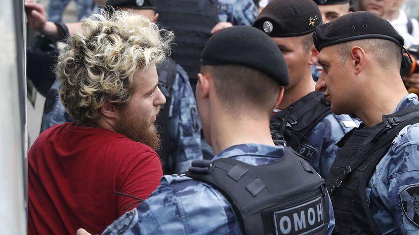 rusko, protest, golunov