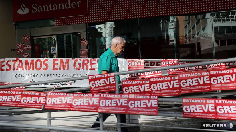 Brazília / generálny štrajk /