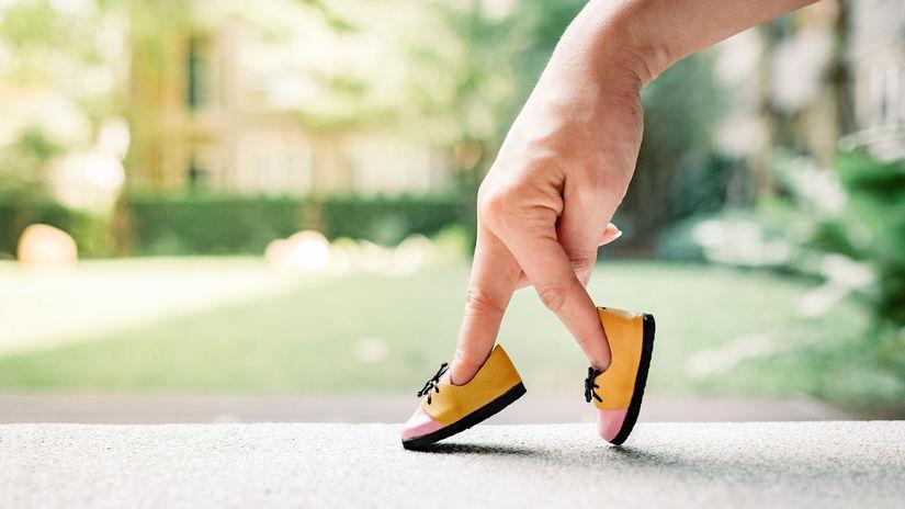 krok, chôdza, topánky, obuv