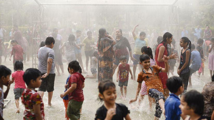 India počasie horúčavy rozprašovač