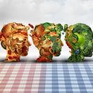 obezita, jedlo, fastfood, zelenina,
