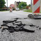 Spišské Podhradie lokálna povodeň chodník poškodenie cesta