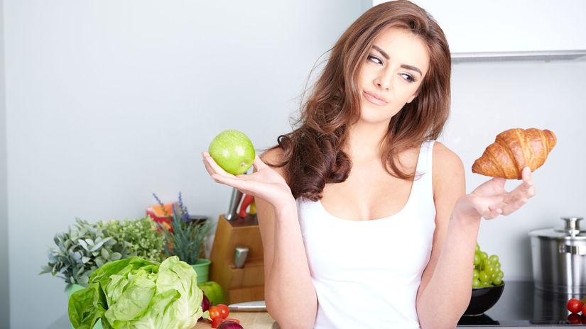 žena, dieta, zdrava strava, ovocie