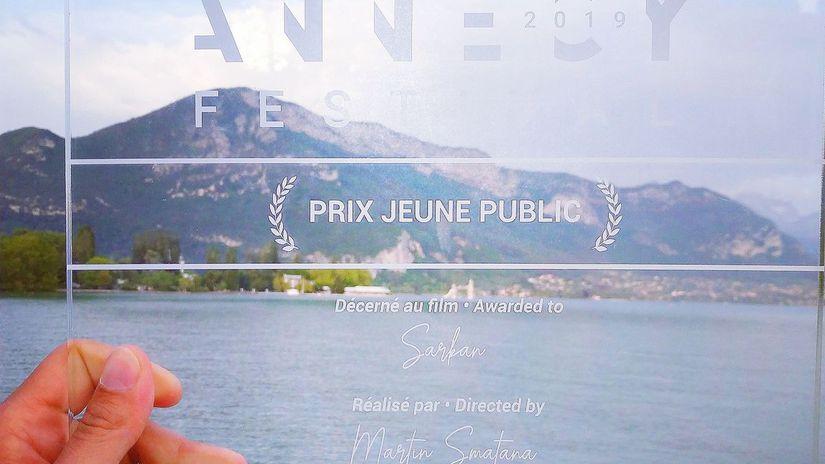 Cena pre film Šarkan z festivalu v Annecy.