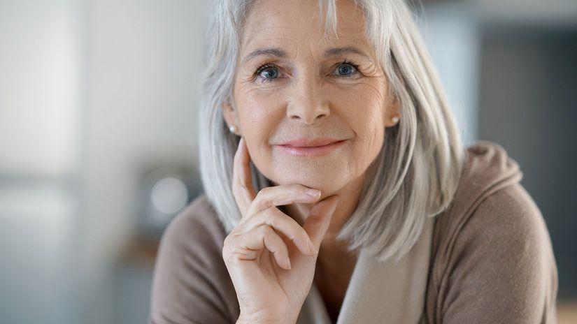 senior, dôchodca, úsmev,
