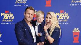 Televízne celebritky Heidi Montag, jej manžel Spencer Pratt a ich syn Gunner Stone.