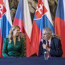 ČR SR prezidentka Čaputová prijatie Zeman TK