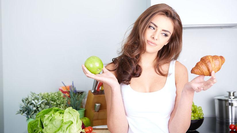 diéta, pečivo, ovocie, jablko