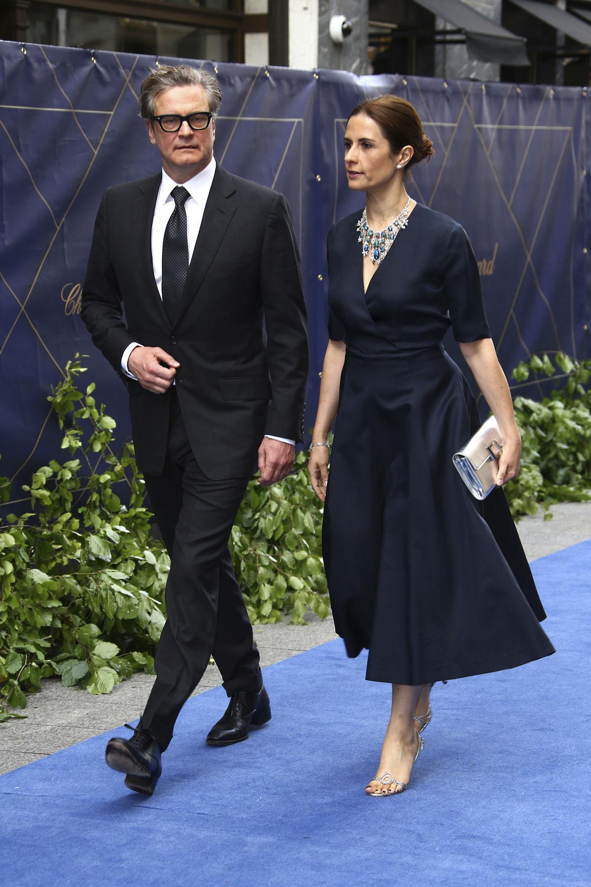 Herec Colin Firth a jwho manželka Livia Firth.