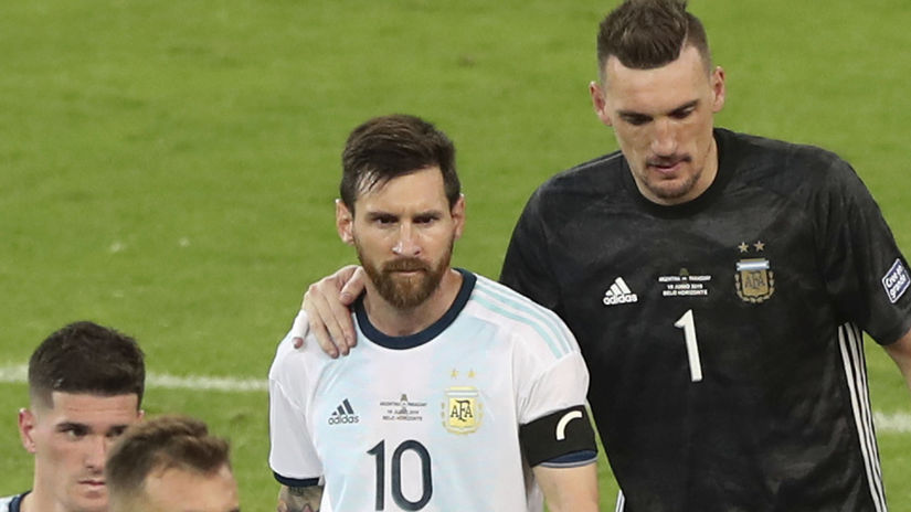 Lionel Messi, Franco Armani