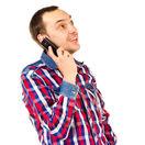 muž, telefón, mobil