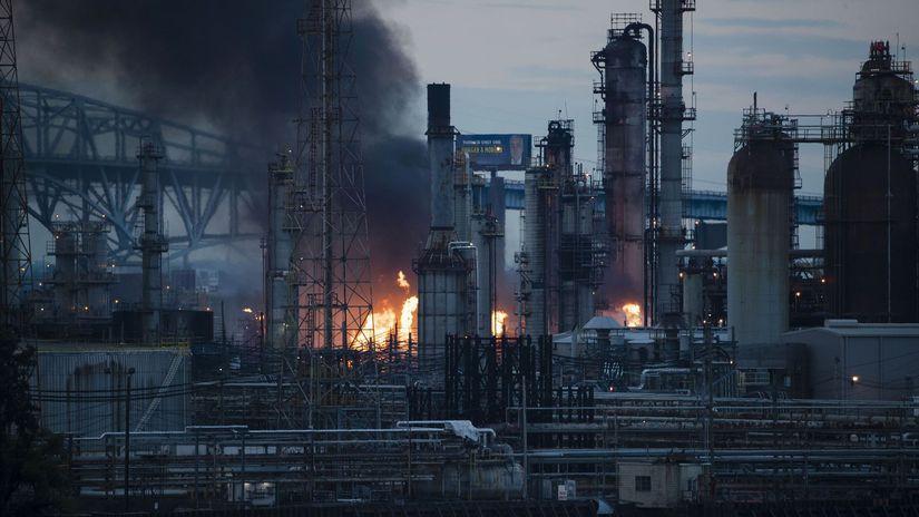 USA Filadelfia rafinéria požiar pensylvánia ropa