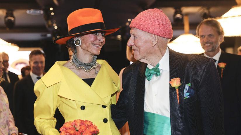 Nórsky miliardár Olav Thon a jeho manželka...
