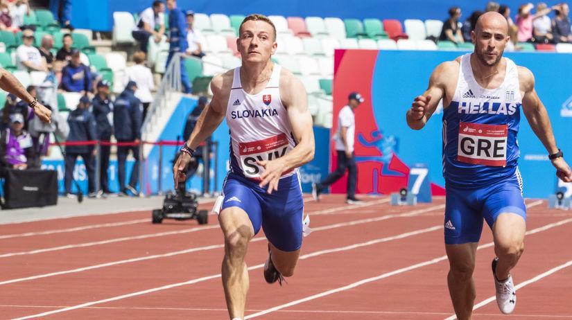 Bielorusko EH19 Slovensko atletika Volko striebro