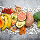 jedlo, strava, výživa, potraviny, ovocie, zelenina, losos, ryby, orechy