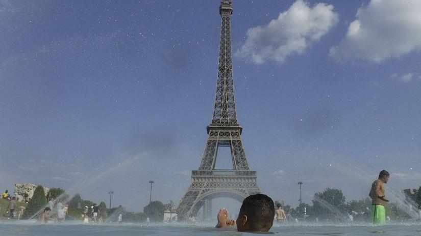 francúzsko, paríž, horúčavy