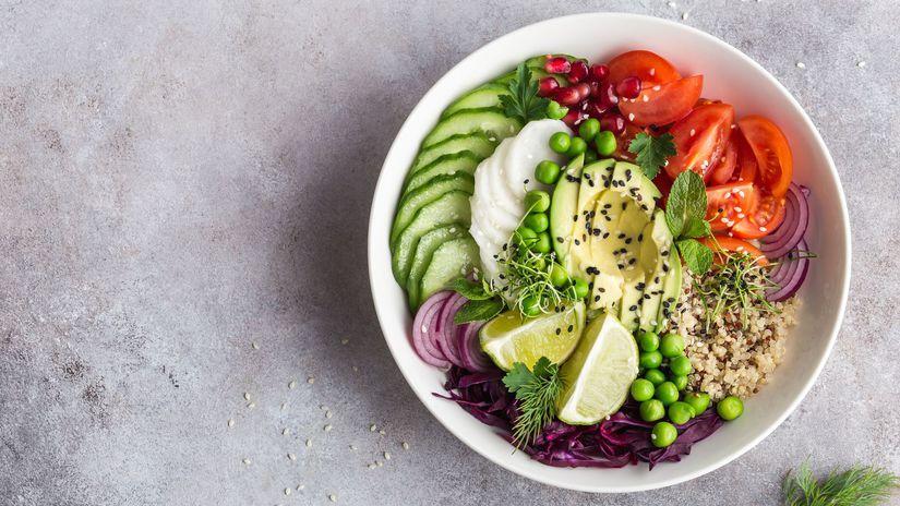šalát, zdravá strava, jedlo