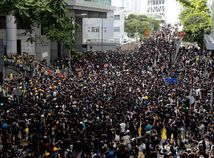 hongkong, čína, protest, demonštrácia