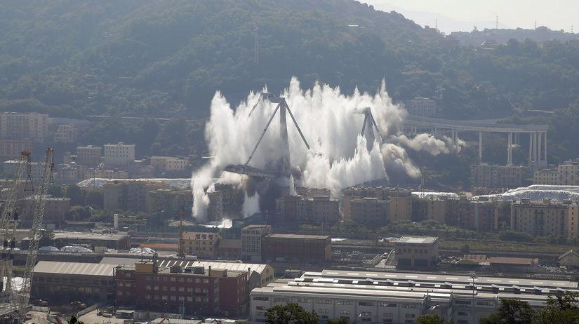 taliansko, janov, most, odpálenie, zničenie,...