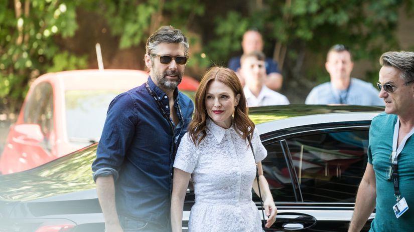 Herečka Julianne Moore a jej manžel Bart...