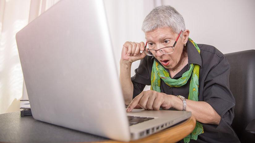 technológie, počítač, seniori