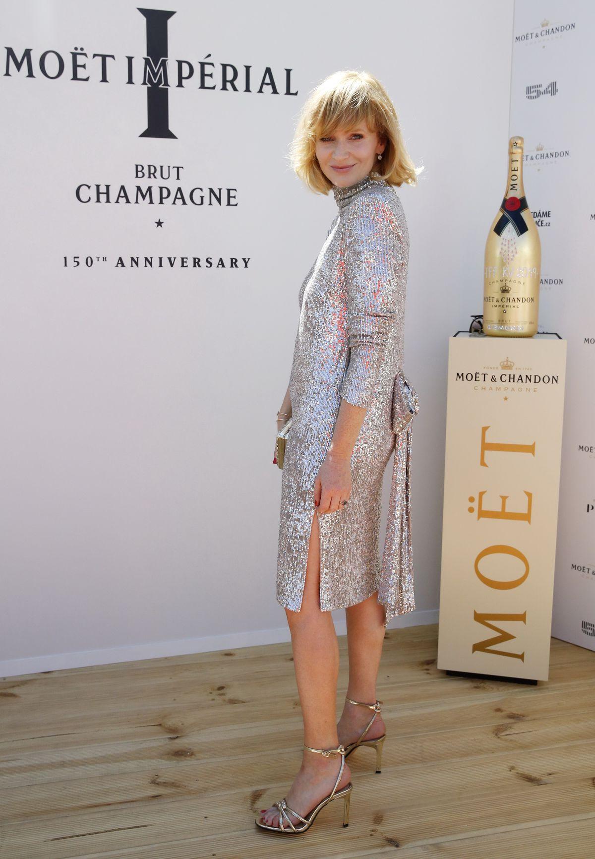 Na charitatívnej akcii značky šampanského Moët...
