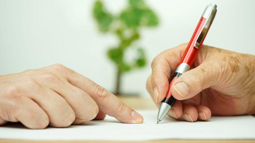 podpis, zmluva, závet
