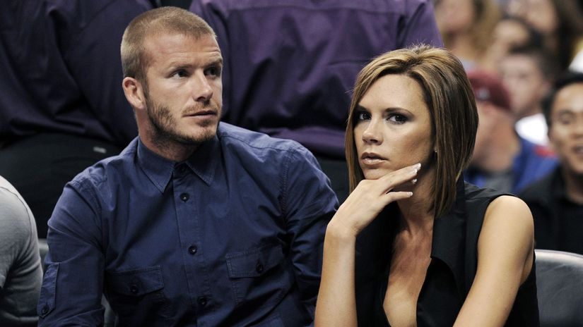 David Beckham a Victoria Beckham na zábere z...