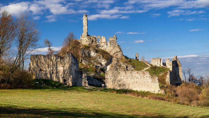 hrad Korlátko, zrúcanina