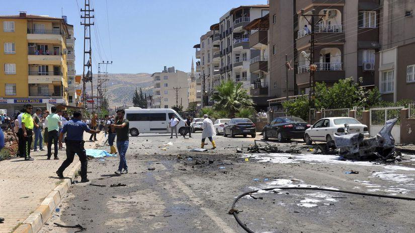 Turecko / auto / explózia / Erdogan / terorizmus
