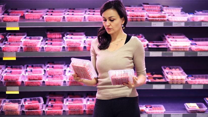 bravčové mäso, supermarket, mäsiar, obchod, nákup