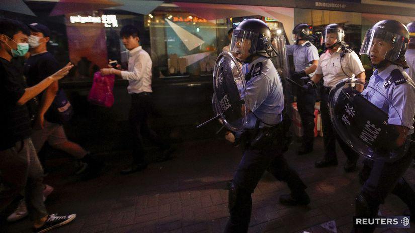 Hongkong, polícia, demonštrácia, protest