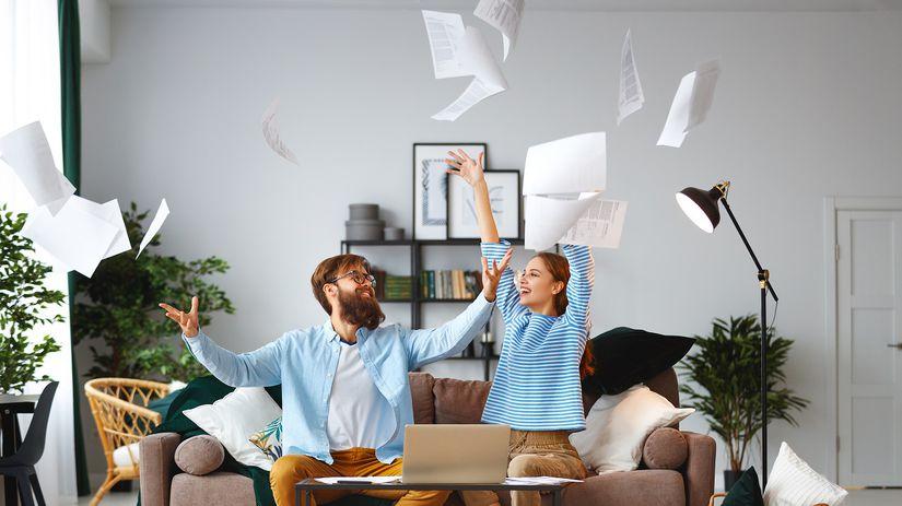 pôžička, pár, radosť, mladomanželská pôžička