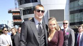 Hráč NFL Rob Gronkowski a Camille Kostek.