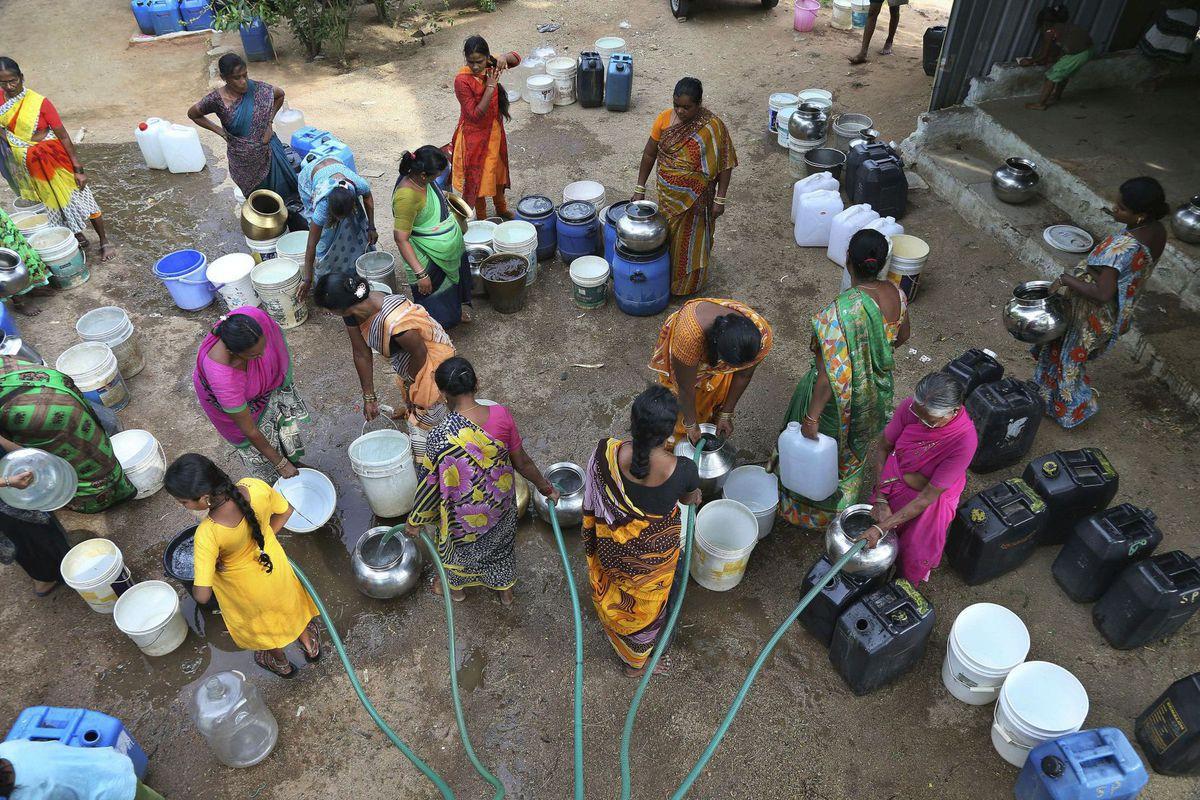 India, voda,