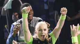 Lyžiarka Lindsey Vonn sa tešila z víťazstva v hre tímov.