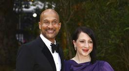 Herec Keegan-Michael Key a jeho manželka Elisa Pugliese.