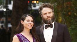 Herec Seth Rogen a jeho manželka Lauren Miler.