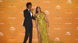 Manželský pár Jay-Z a Beyoncé prišli spoločne na londýnsku premiéru filmu Leví kráľ.