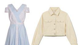 Šaty z dielne značky La Martina, info o cene v predaji. Denimová bundička Reserved, predáva sa za 44,99 eura. .